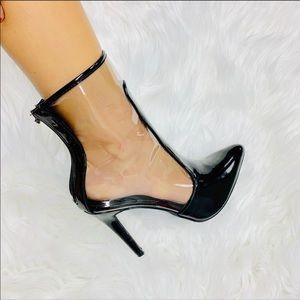 Shoes - Black Translucent Booties